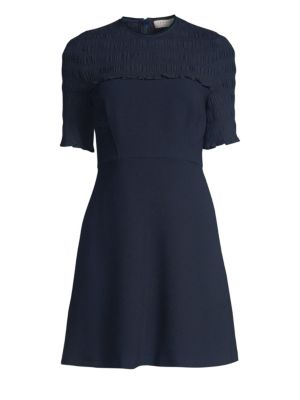 Smocked Mini Dress by Sandro