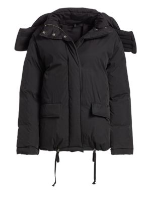 Down & Feather Fill Puffer Jacket by Helmut Lang