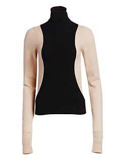 7395991a4fa9be QUICK VIEW. Helmut Lang. Colorblock Turtleneck Sweater