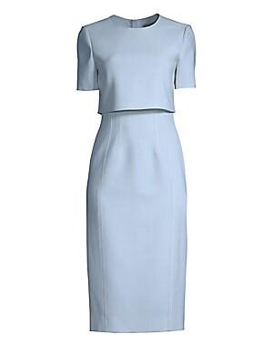 6c3dbc8c050 Jason Wu Collection - Crepe Popover Sheath Dress - saks.com