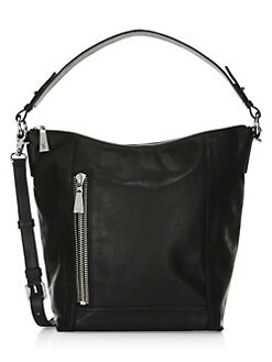 9d985f6318 Lena Zip Leather Hobo Bag GREY. QUICK VIEW. Product image
