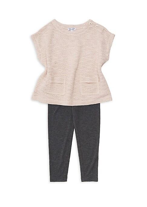 Little Girls TwoPiece Knit Sweater  Leggings Set