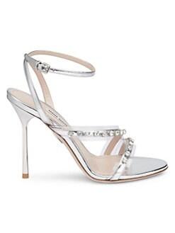 61743e39f77f QUICK VIEW. Miu Miu. Embellished High Heel Sandals