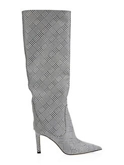 1a71d9c81604 Product image. QUICK VIEW. Jimmy Choo. Mavis Plaid Tall Leather Boots.   1575.00 · Lang Liquid Mirror Leather Sandals SILVER