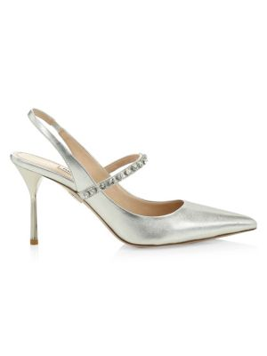Embellished Slingback Pumps by Miu Miu