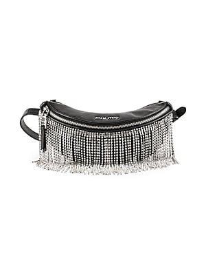cb438fdf70 Miu Miu - Crystal-Fringe Convertible Leather Belt Bag - saks.com