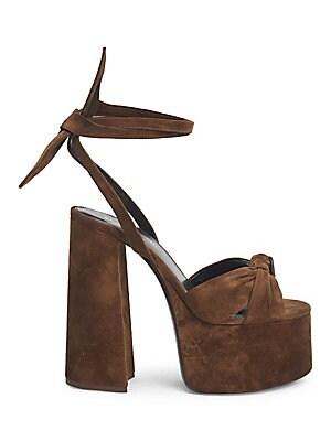 e4c1c3eebeb9 Saint Laurent - Paige Suede High Heel Sandals - saks.com
