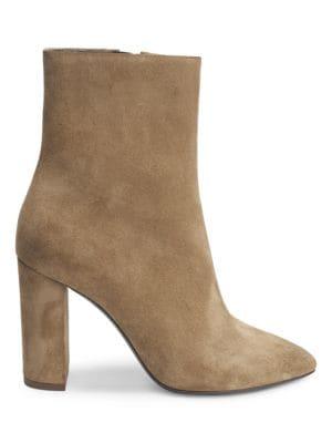 Lou Suede Booties by Saint Laurent