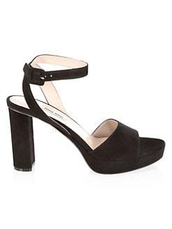 37708a3c2b16 QUICK VIEW. Miu Miu. Suede Block Heel Platform Sandals