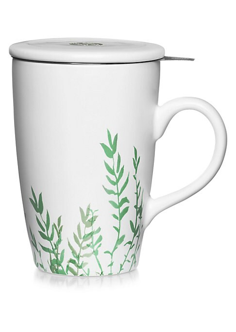 Image of La Tisaniereis the essential accessory to prepare the most delicate herbal infusion. It consists of a beautiful mug inside which fits a large-sized filter designed to infuse the perfect amount of loose tea leaves. The porcelain lid will keep your infusion