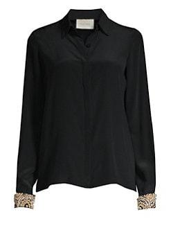 b34ff81d7ecd28 QUICK VIEW. Alexis. Ottavia Silk Embellished Blouse