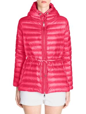 Raie Quilted Jacket in Red
