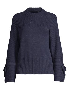 DESIGN HISTORY Ribbed Bell Sleeve Crewneck in Starry Night