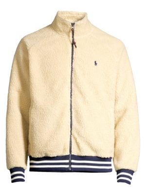 Faux Shearling Baseball Jacket by Polo Ralph Lauren