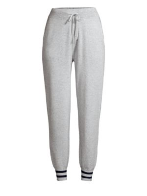 DESIGN HISTORY Snowglobe Varsity Stripe Sweatpants in Snowglobe Grey