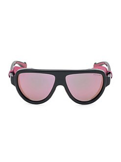 70209603ab Moncler. 57MM Mirrored Shield Sunglasses
