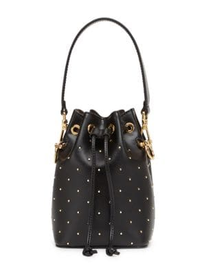Mon Tresor Micro Studded Bucket Bag by Fendi