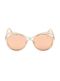 bfdb68799 Roberto Cavalli. 58MM Cat Eye Sunglasses