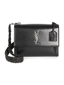 Product image. QUICK VIEW. Saint Laurent. Sunset Braided Strap Leather  Crossbody Bag 83146cabdef2e