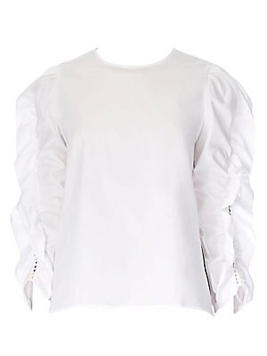 394ee598f964d Classic Silk Blouse.  990.00 · Carolina Herrera - Ruffled Puff Sleeve Top