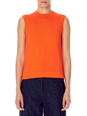 Carolina Herrera Cashmere & Silk Sleeveless Knit
