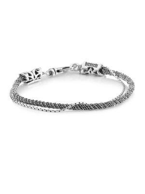 Emanuele Bicocchi Sterling Silver Slim Torsion Rope Bracelet
