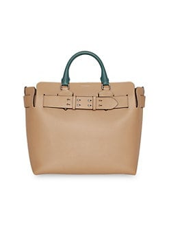 675a252d6df0 Product image. QUICK VIEW. Burberry. Medium Belt Tri-Tone Leather Top  Handle Bag