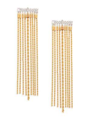 Fallon Yacht Club Crystal Waterfall Earrings
