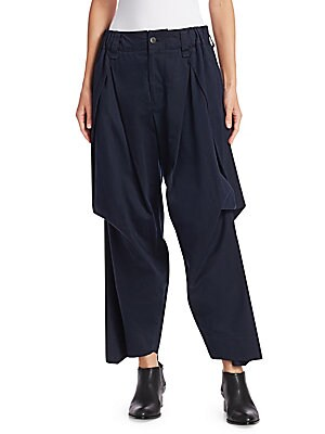 Image of With a voluminous silhouette that's been tucked and pleated, this is a wonderfully whimsical take on the cargo pant. An ankle length allows the garment to be worn with a range of footwear. Belt loops Partially elasticized waistband Zip fly with button clo