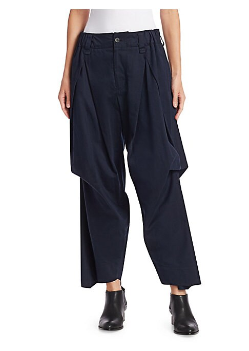 Image of With a voluminous silhouette that's been tucked and pleated, this is a wonderfully whimsical take on the cargo pant. An ankle length allows the garment to be worn with a range of footwear. Belt loops. Partially elasticized waistband. Zip fly with button c