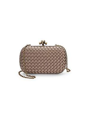 1a8ebf86059 Bottega Veneta - Chain Knot Leather Clutch - saks.com