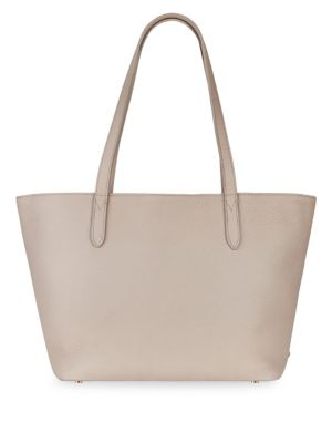 GIGI NEW YORK Teddie Leather Tote in Beechwood