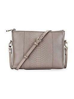 01aef13561 QUICK VIEW. Gigi New York. Hailey Embossed Python Convertible Crossbody Bag