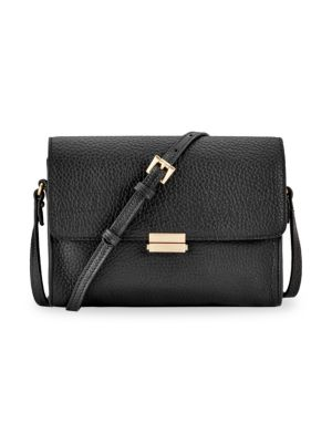 GIGI NEW YORK Catherine Leather Crossbody in Black