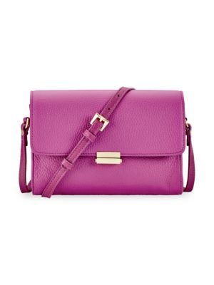 GIGI NEW YORK Catherine Leather Crossbody in Purple