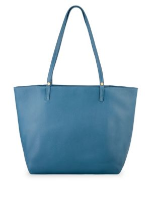 GIGI NEW YORK Tori Pebbled Leather Tote in Blue