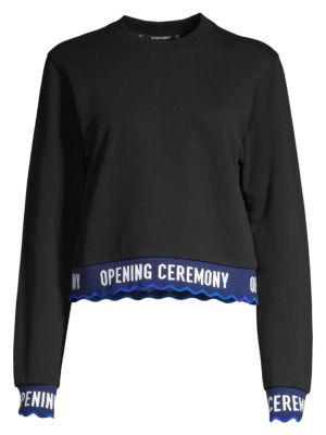 Cropped Logo Sweatshirt by Opening Ceremony