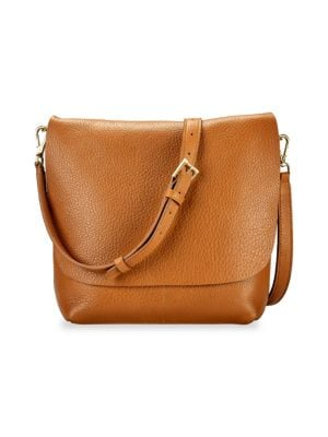 GIGI NEW YORK Andi Leather Crossbody Bag in Camel