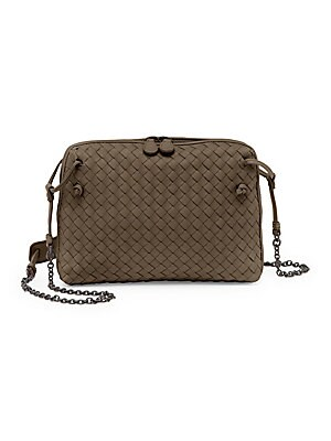 39050e45d762 Bottega Veneta - Nodini Double-Zip Crossbody Bag - saks.com