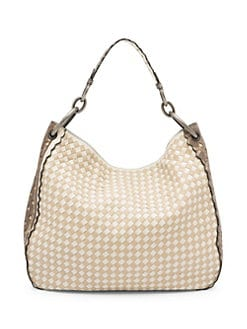 dcec244b653 QUICK VIEW. Bottega Veneta. Woven Leather Hobo Bag