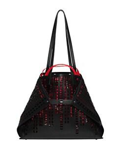 f9841c4a5d6f QUICK VIEW. Akris. Medium Lasercut Leather Shoulder Bag