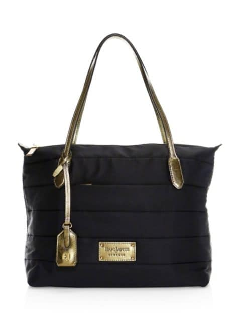 Eric Javits Partire Quilted Metallic Leather-Trimmed Tote | SaksFifthAvenue