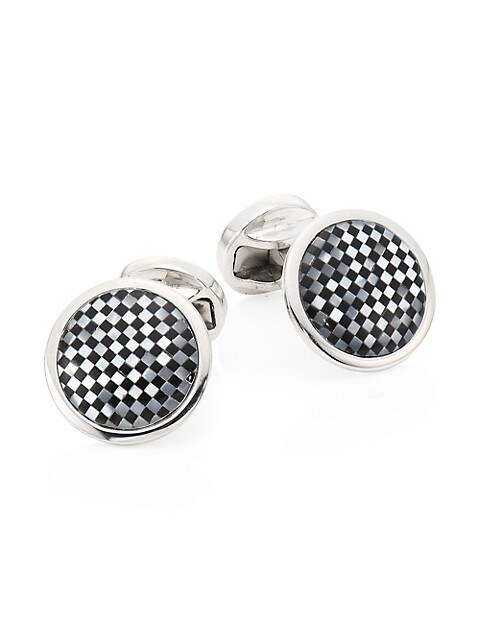 COLLECTION Check Cuff Links