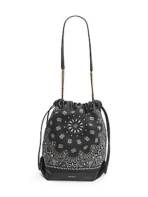 Saint Laurent - Teddy Bandana-Print Bucket Bag - saks.com 87179e2667f05