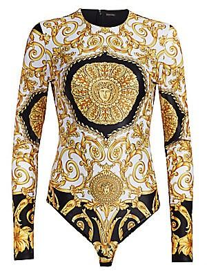 066d7c4fbb Versace - Silk-Blend Hibiscus Bra Top - saks.com