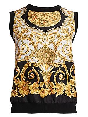 1330bcb7de9 Versace - Long Sleeve Hibiscus Bodysuit - saks.com