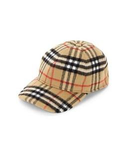 53a0925b6a2e35 Burberry. Check Wool Cap
