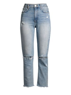 Joie  Wesleyn Distressed Raw-Hem Jeans