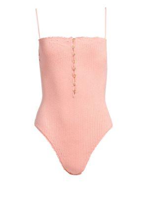 VIX BY PAULA HERMANNY Romance Scales One-Piece Bikini in Light Pink