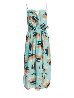 VIX BY PAULA HERMANNY Matisse Grace Midi Floral Dress in Blue